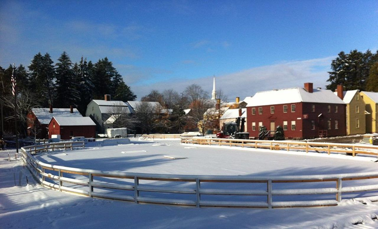 Strawbery Banke Museum empty ice skating rink
