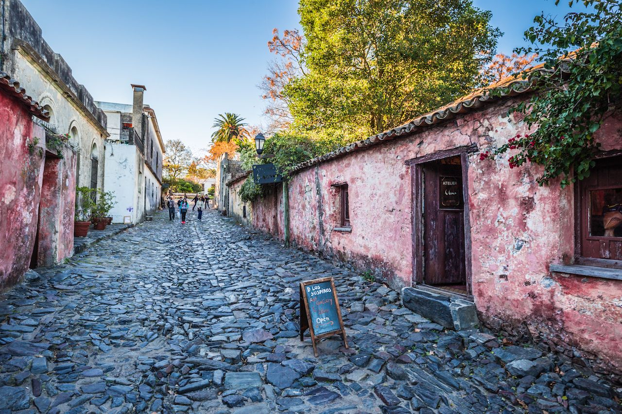 Streets of the old town of Colonia Del Sacramento, Uruguay