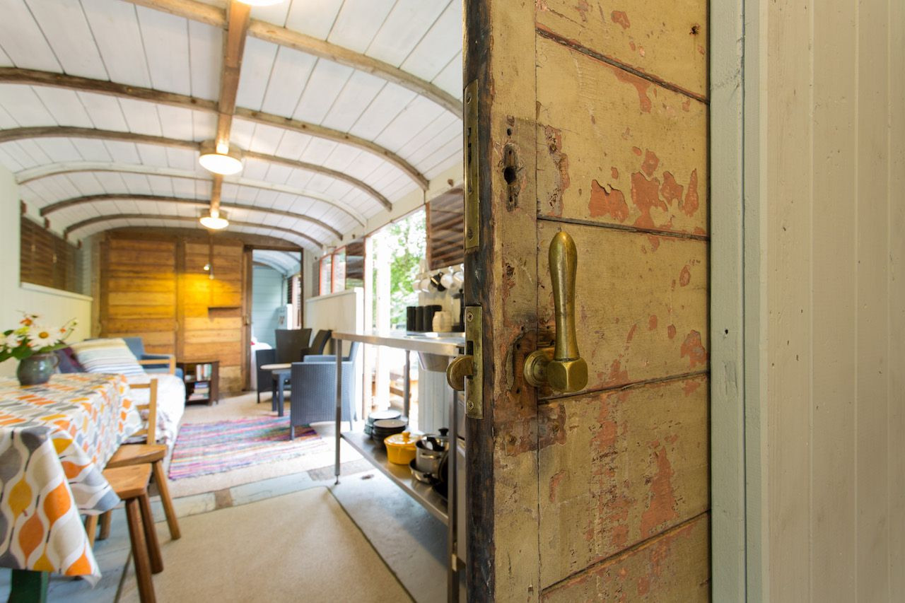 Sunny Airbnb in a converted train car