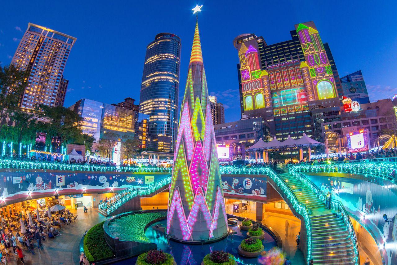 Taipei, Taiwan Christmas tree