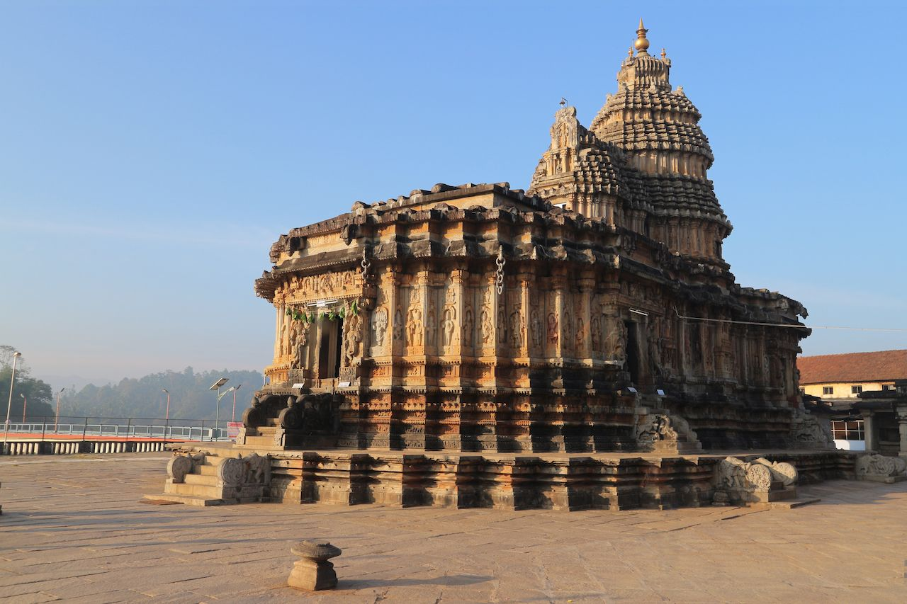 Temple of Vidya Shankara in Sringeri, India