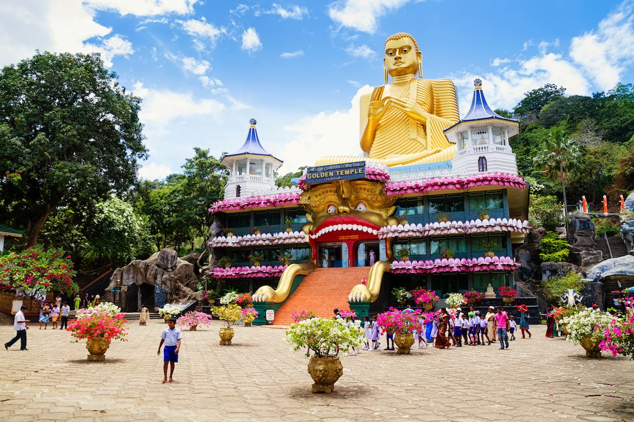 The Golden Temple Dambulla in Sri Lanka