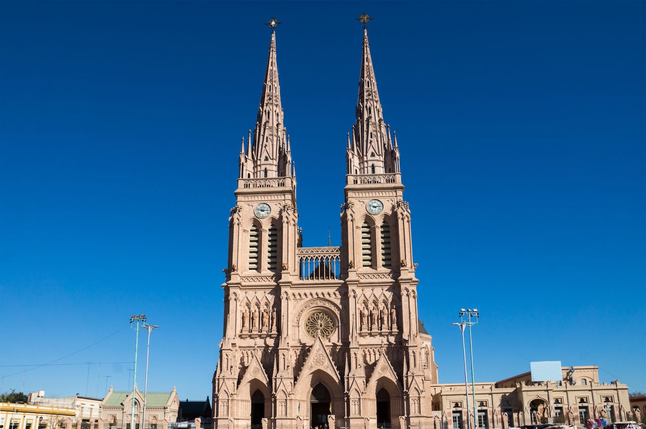 The cathedral of Lujan in the province of Buenos Aires, Argentina
