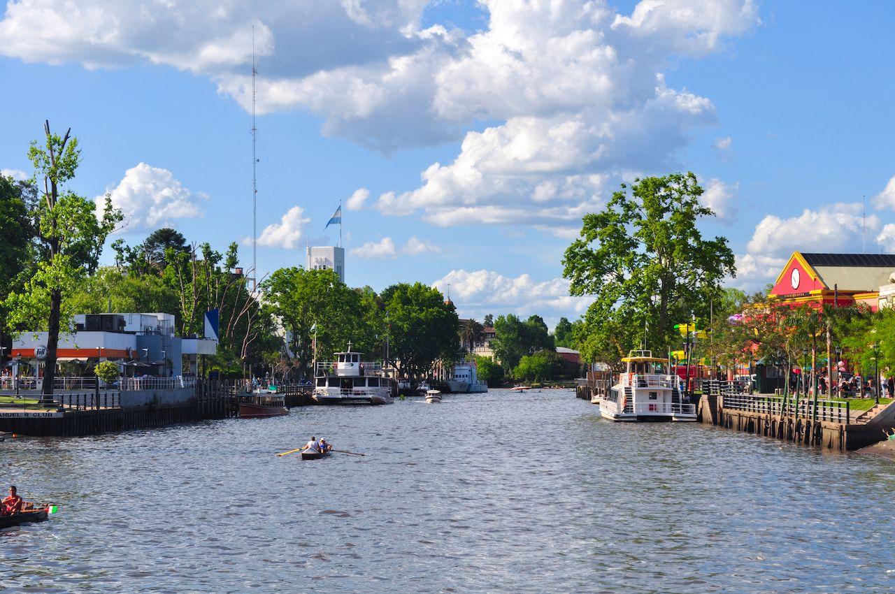 Tigre River in Tigre City, Buenos Aires, Argentina