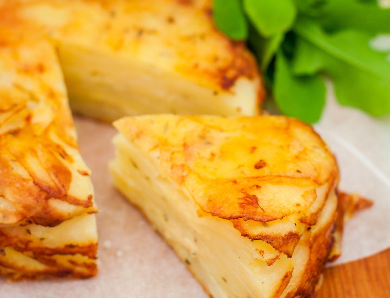 Tukmachi, upside down layered potato cake