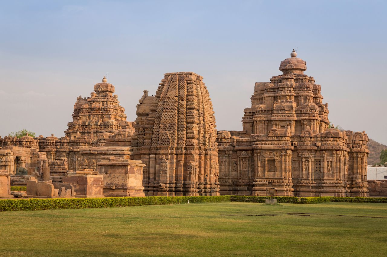 Virupaksha is the main temple of the Pattadakal temple complex in India