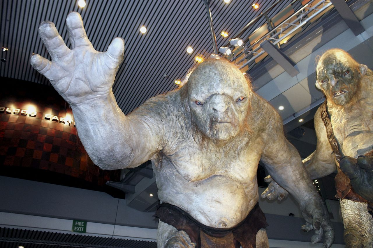 Weta Cave Trolls on display at Te Papa Museum in Wellington