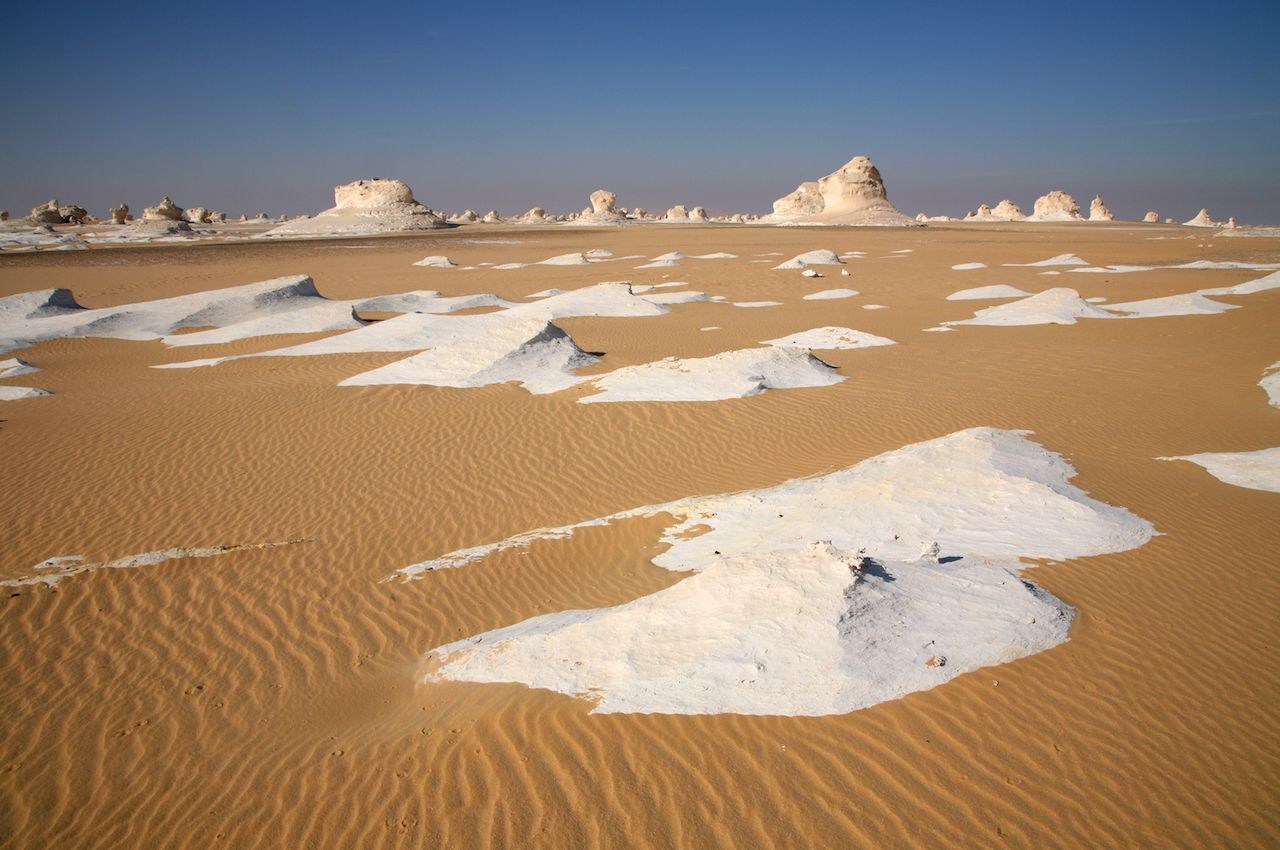 White Desert in the Sahara of Central Egypt