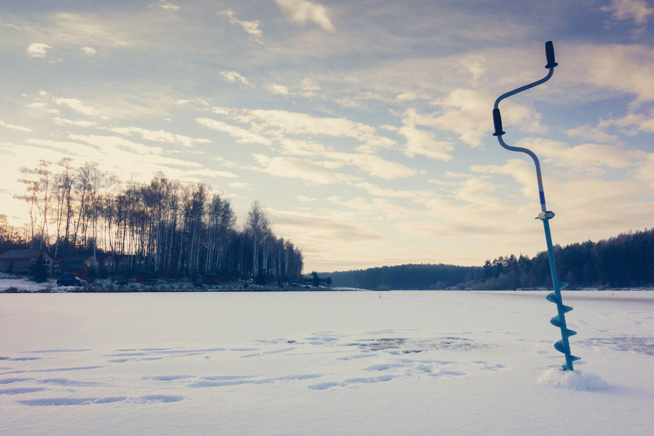 Winter ice fishing