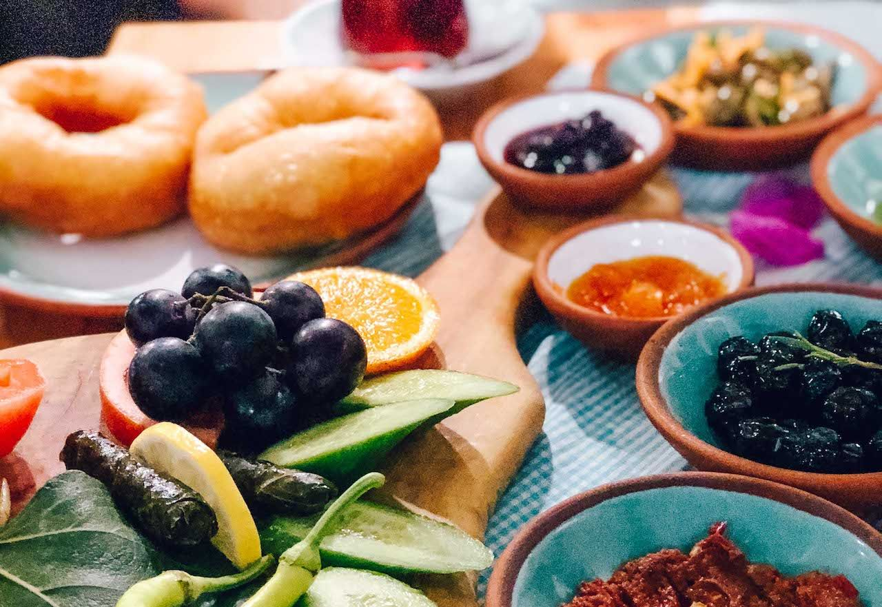 cesme bazlama as part of istanbul breakfast
