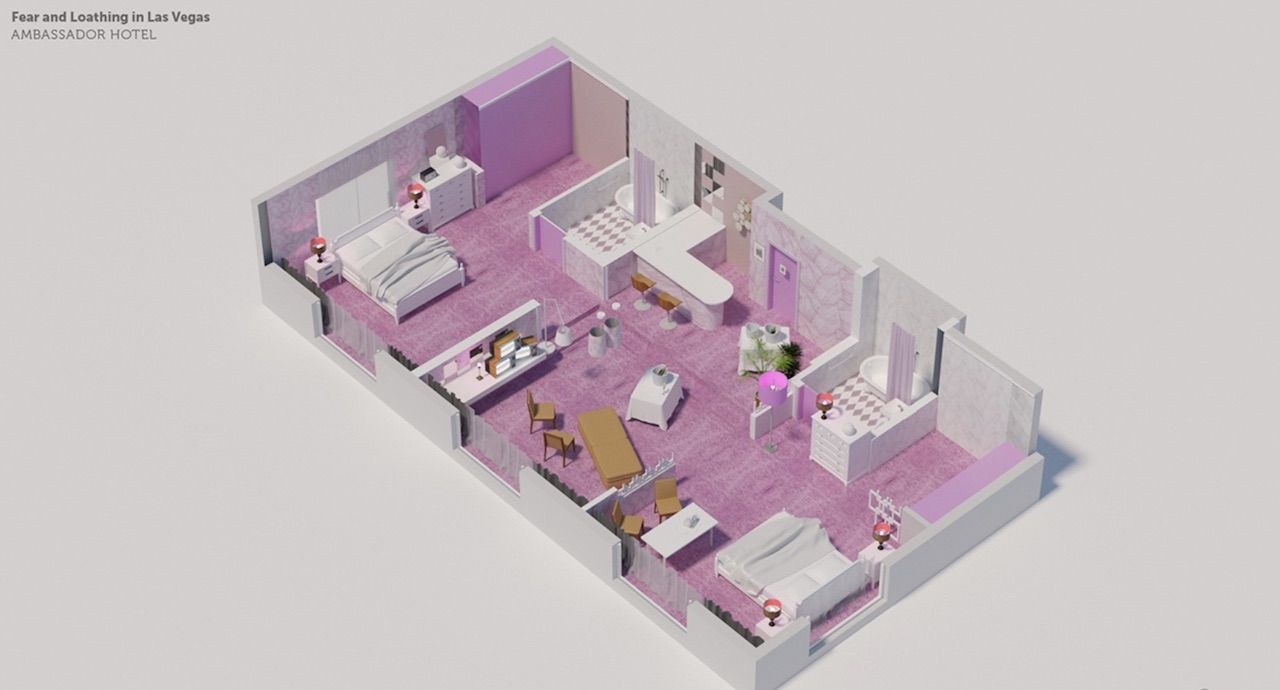 fear and loathing hotel room floor plan