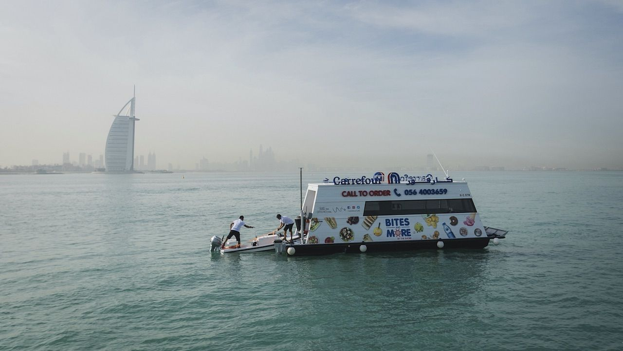 New floating supermarkets in Dubai