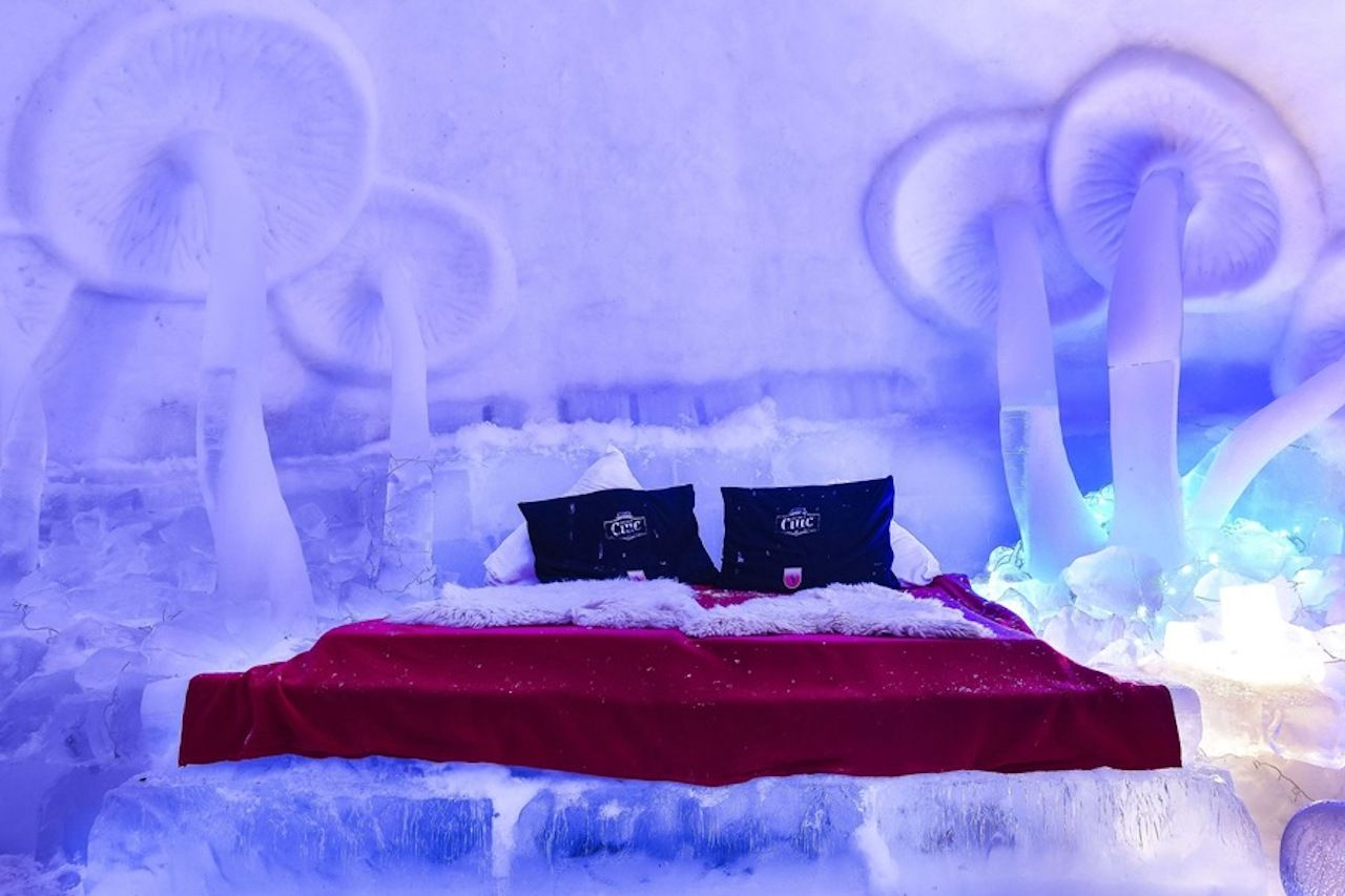 inside an ice hotel