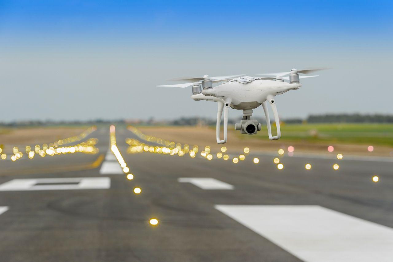 Drones halt traffic at Newark