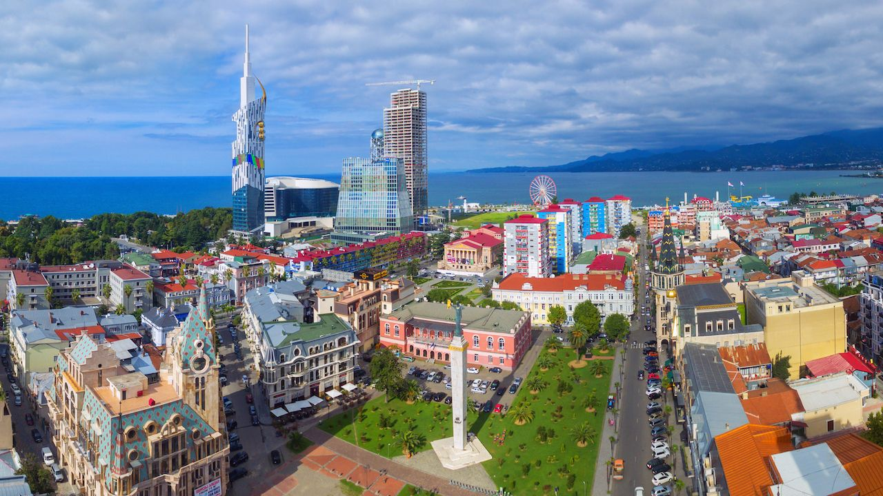 Aerial view of downtown Batumi, Georgia