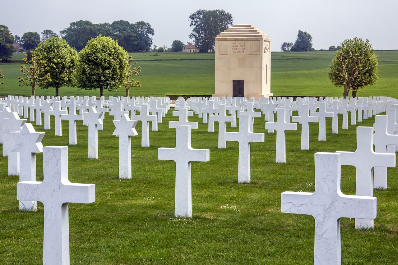 American Cemetery in the Vallee de la Somme in France