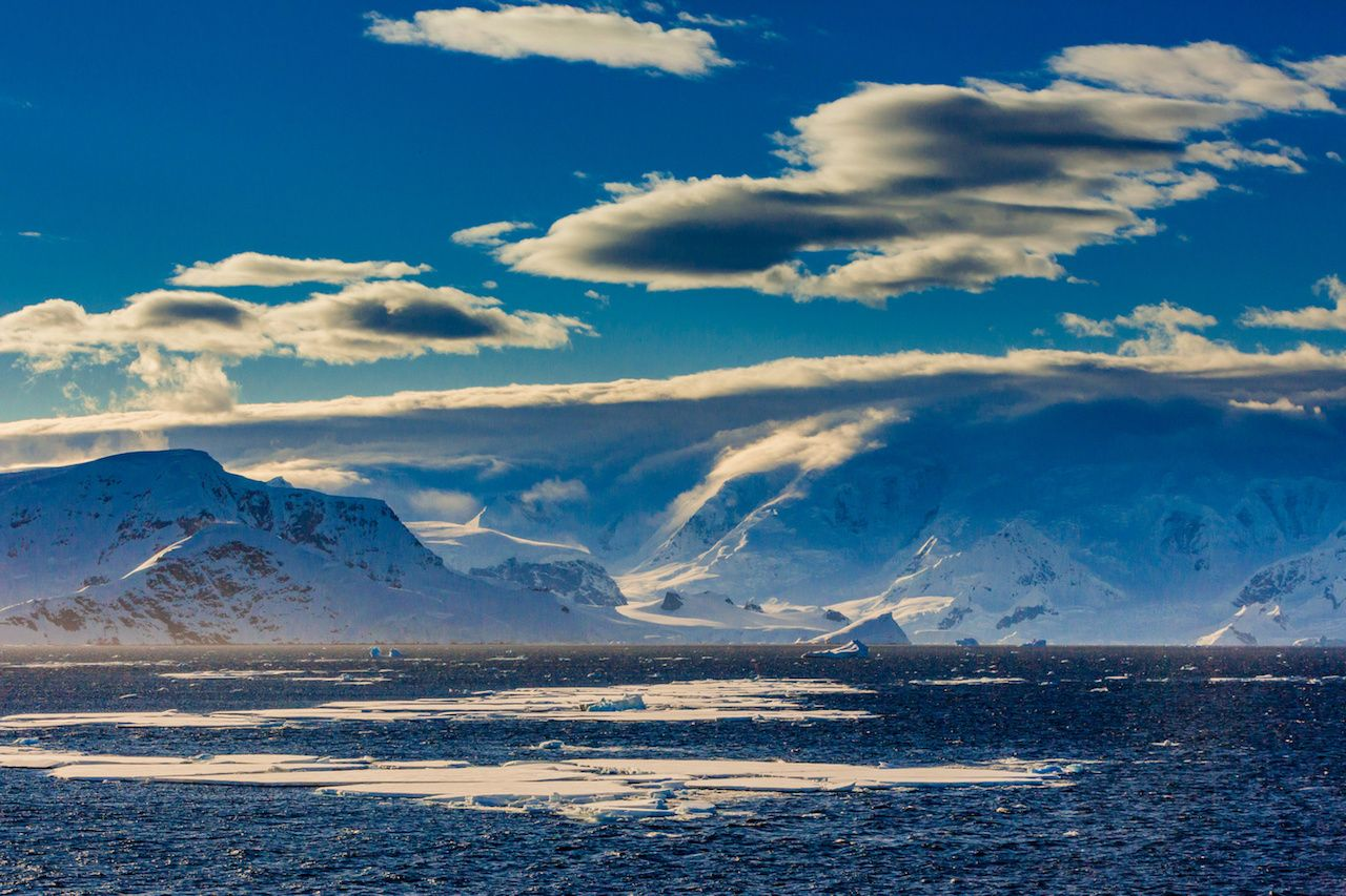 Antarctic mountain landscape