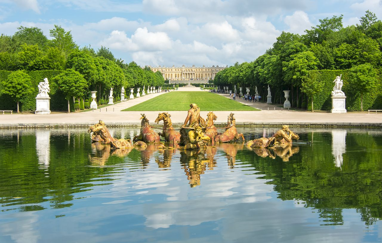 Apollo Fountain in Versailles Gardens, Paris, France