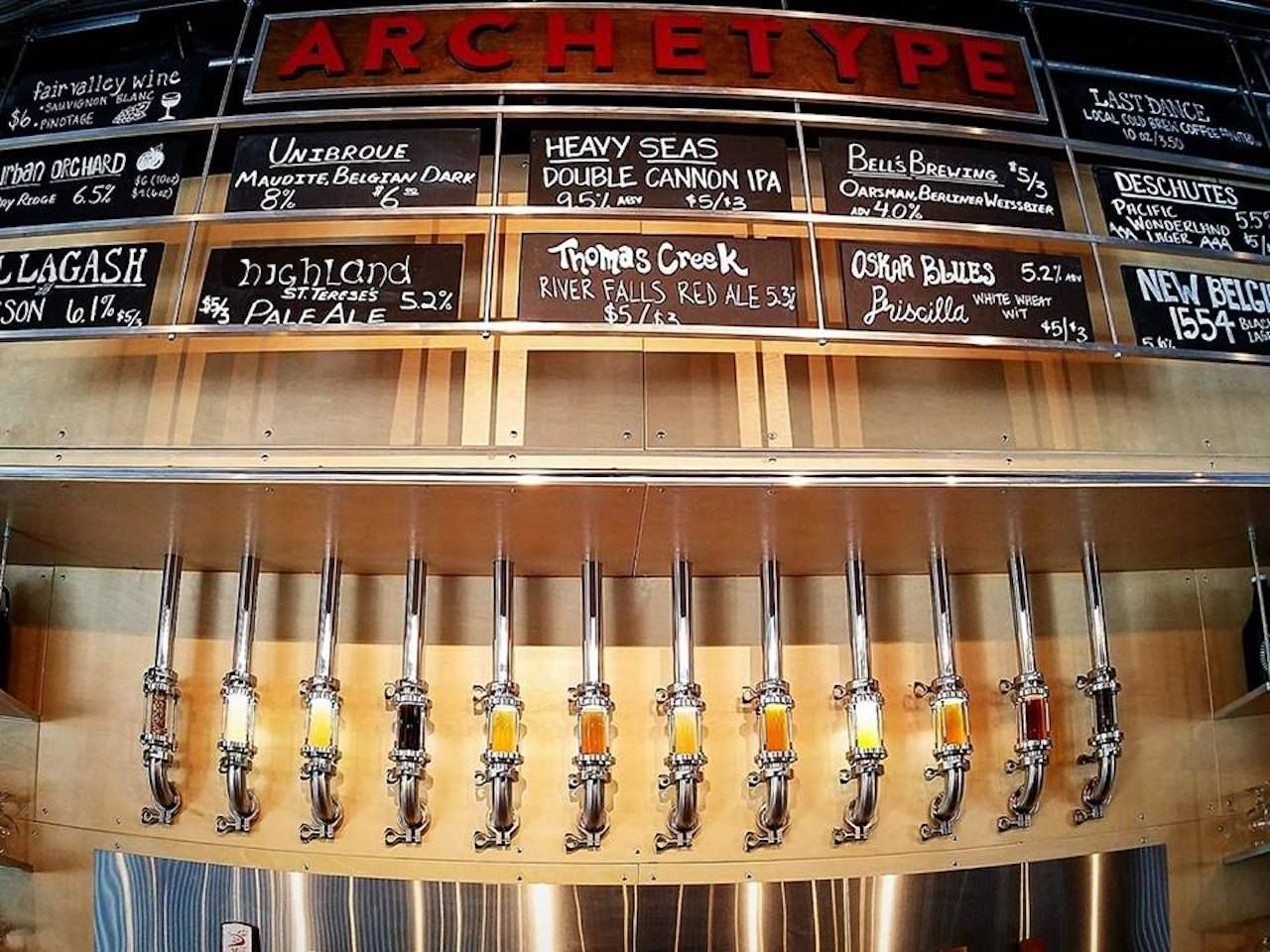 Archetype Brewing taps