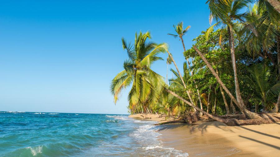 Beach at Puerto Viejo in Costa Rica