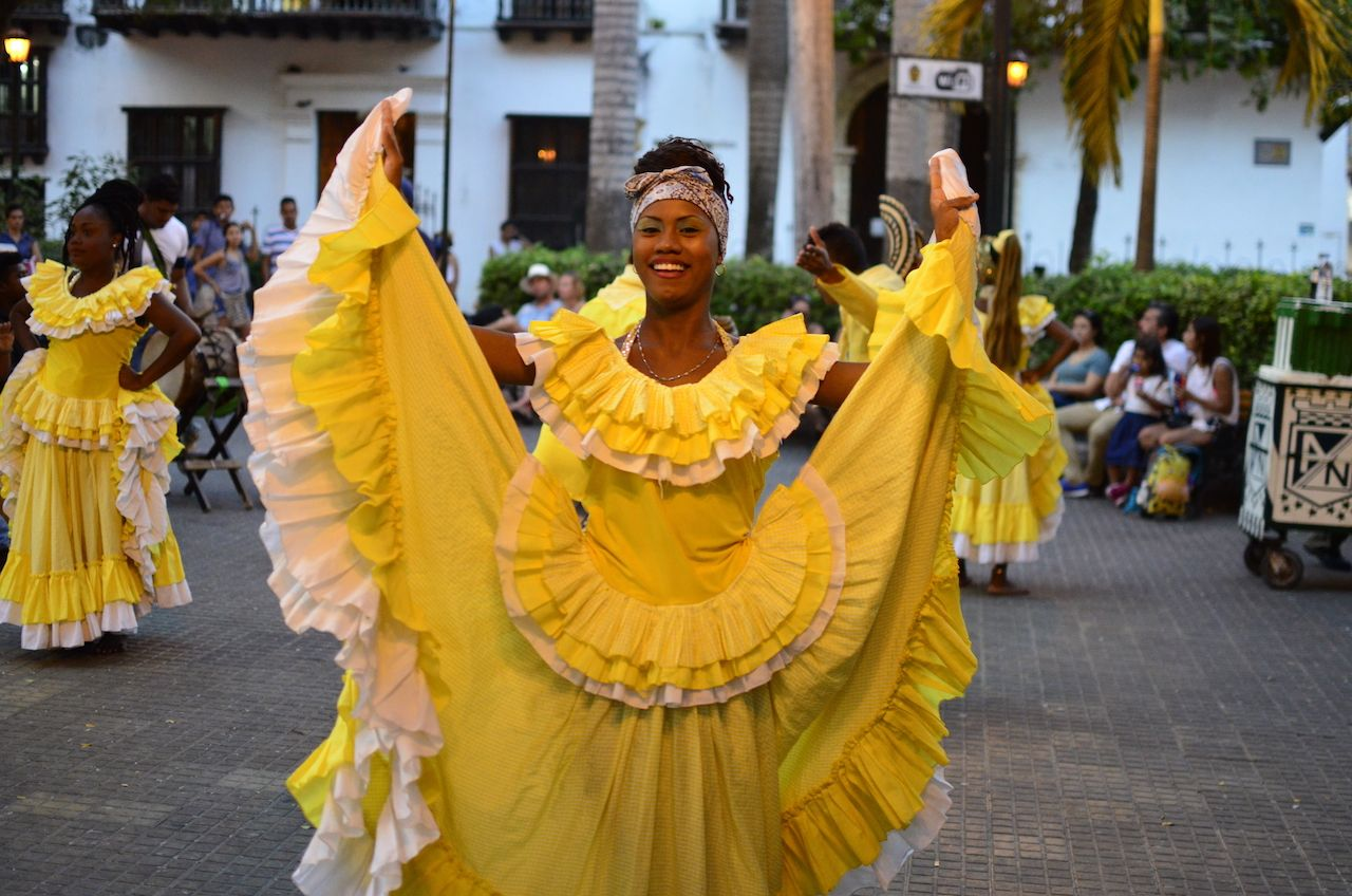 Beautiful Caribbean dancer in Colombia