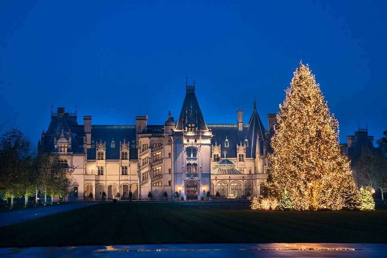 Biltmore in Asheville during Christmas