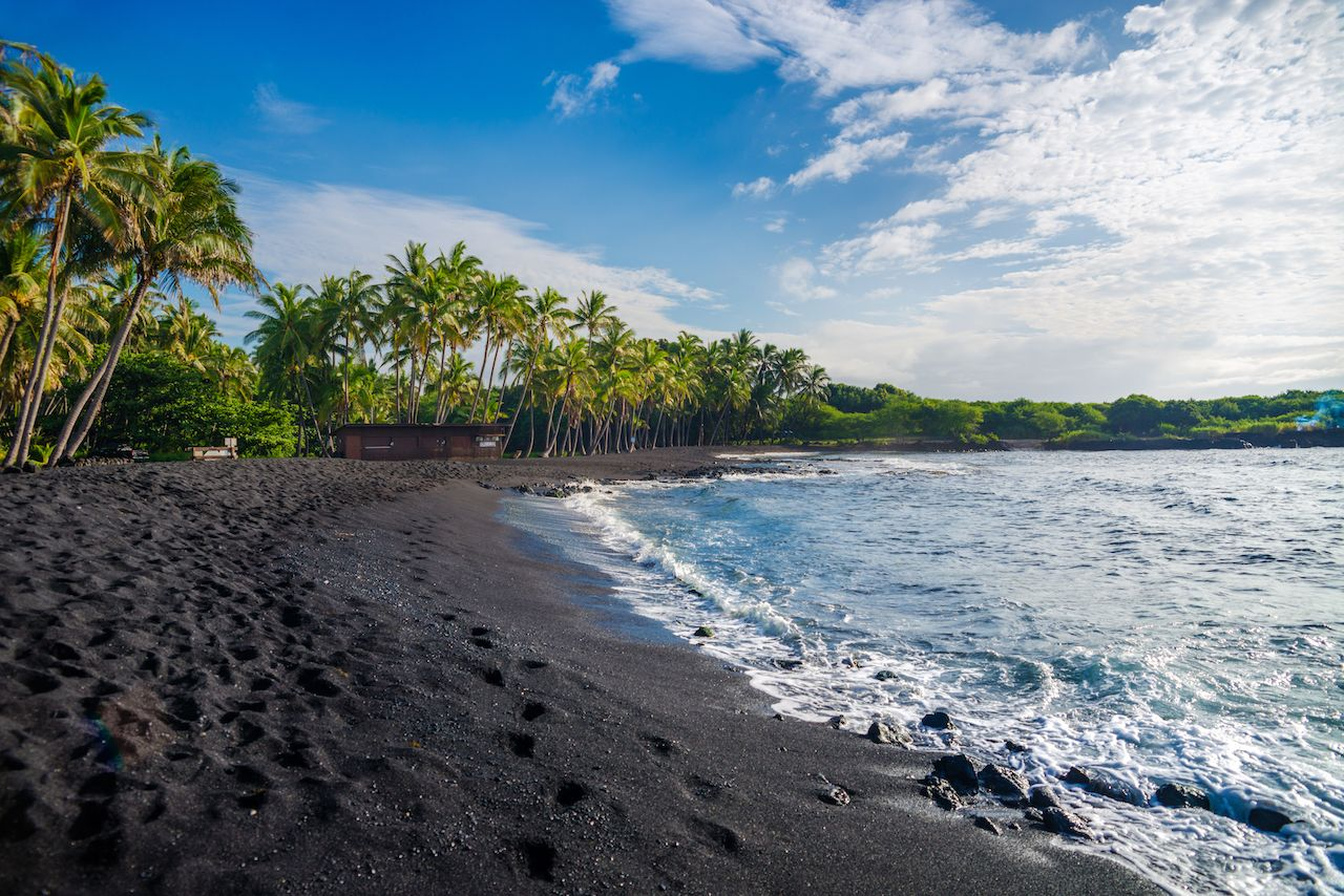 Kilauea eruption creates new beach