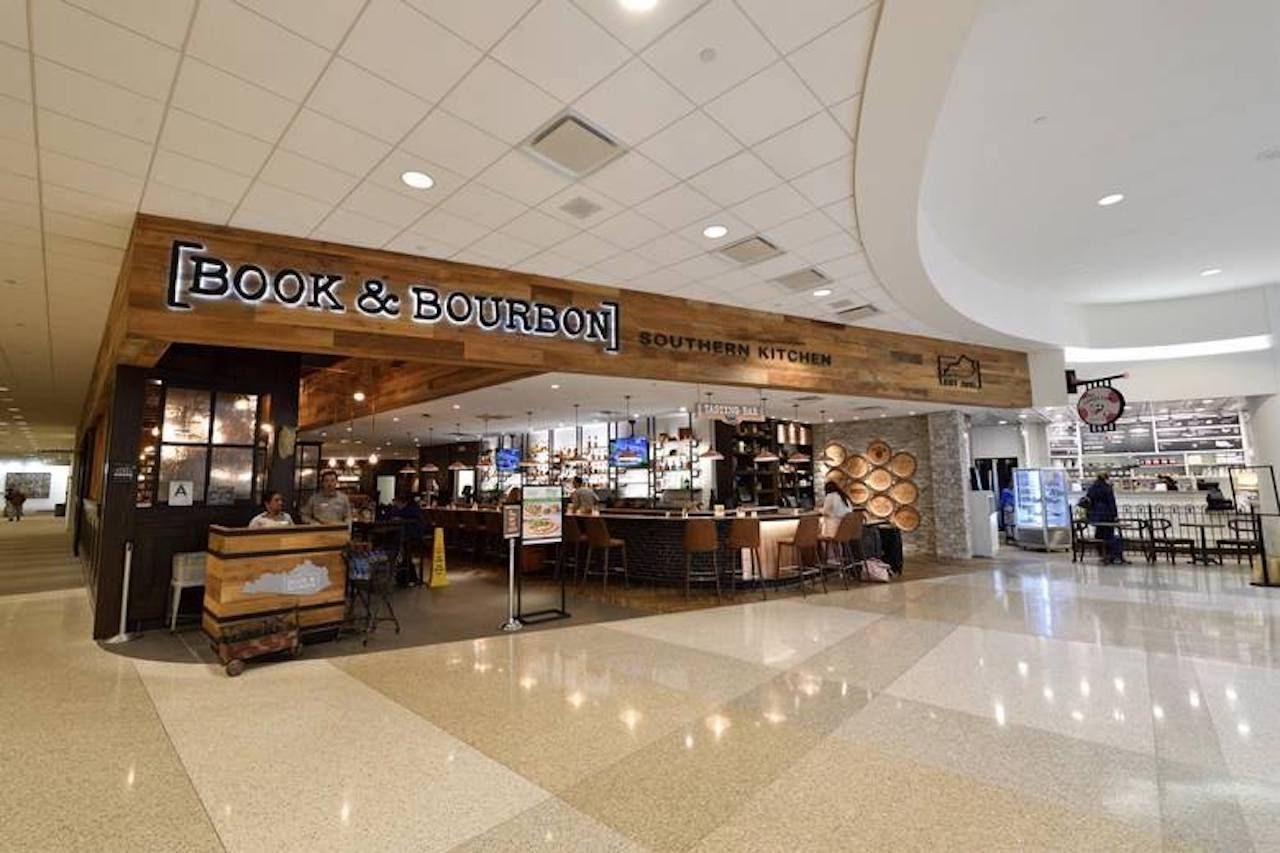 Book and Bourbon bar at the Louisville restaurant