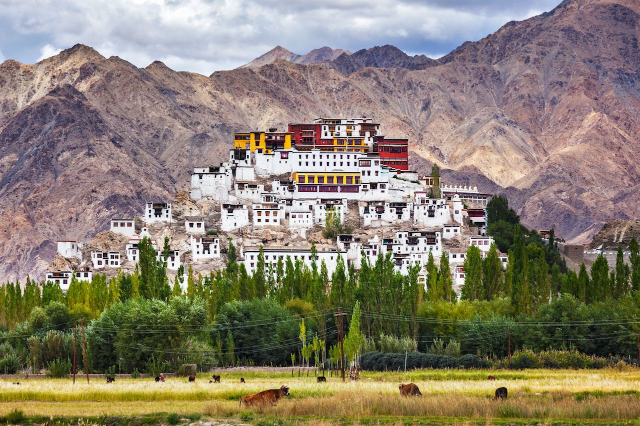 Buddhist monastery of the Yellow Hat in Tibet