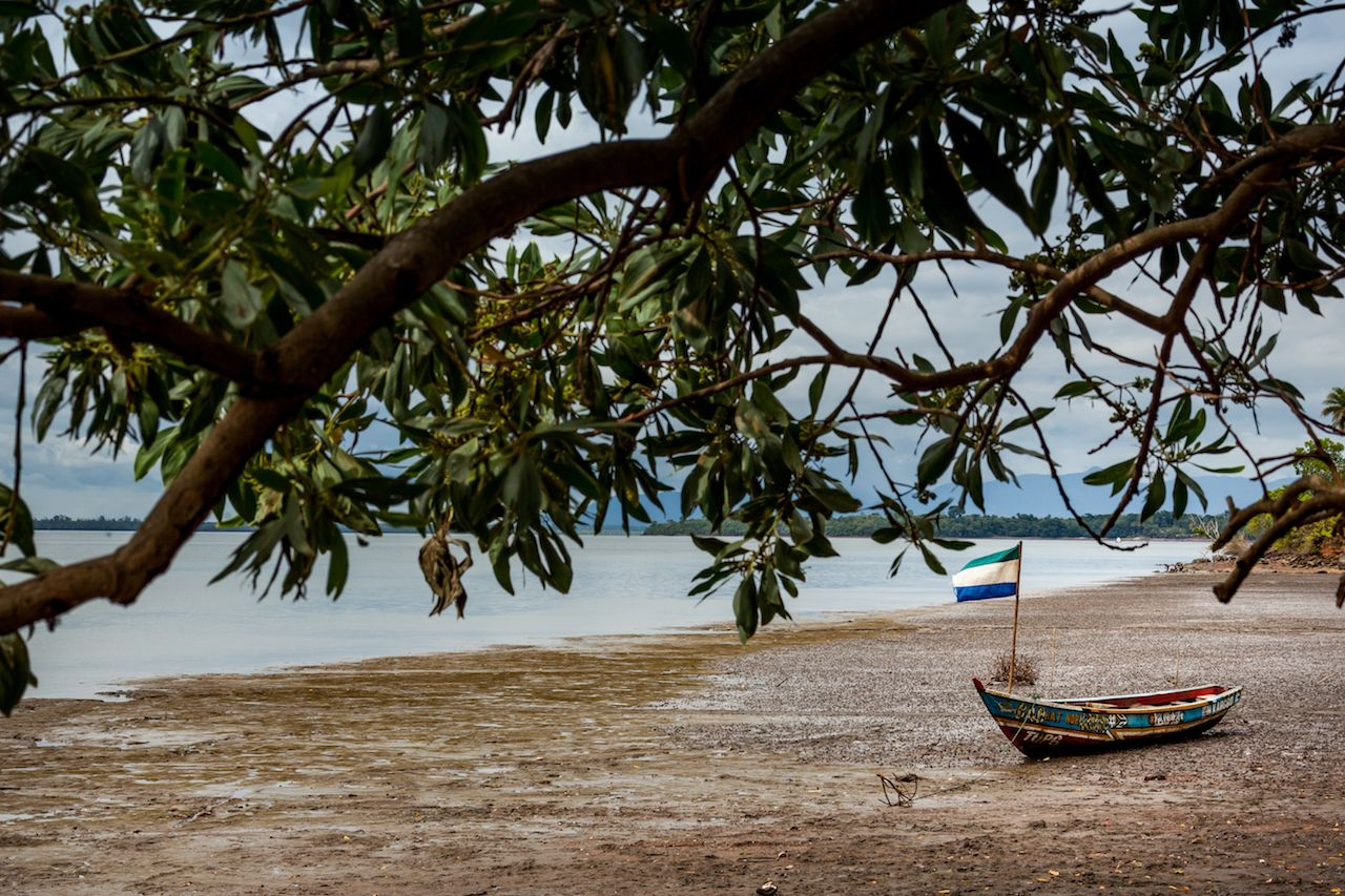 Bunce Island seashore, Sierra Leone