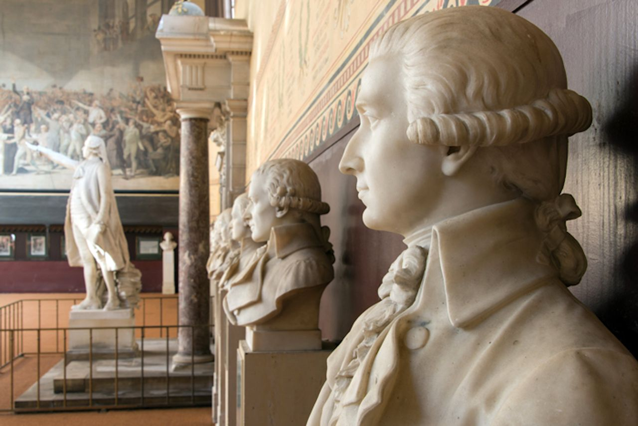 Busts and statues in Versailles