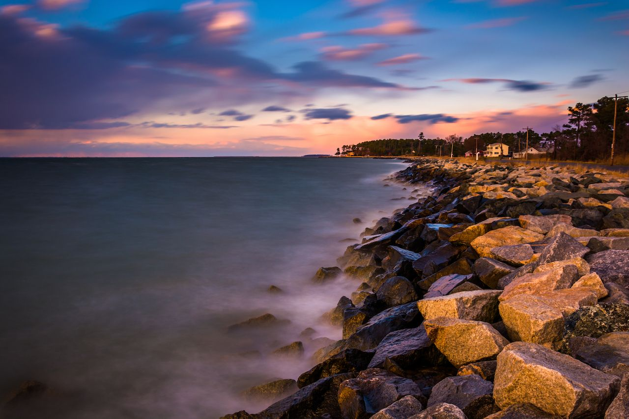 Chesapeake Bay at sunset, in Tilghman Island, Maryland