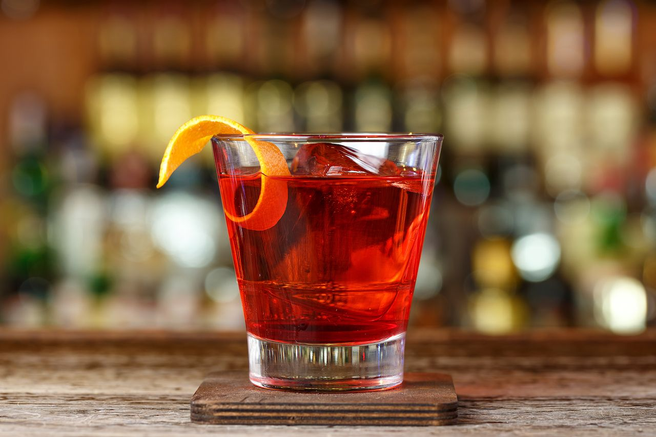 Classic cocktail Negroni