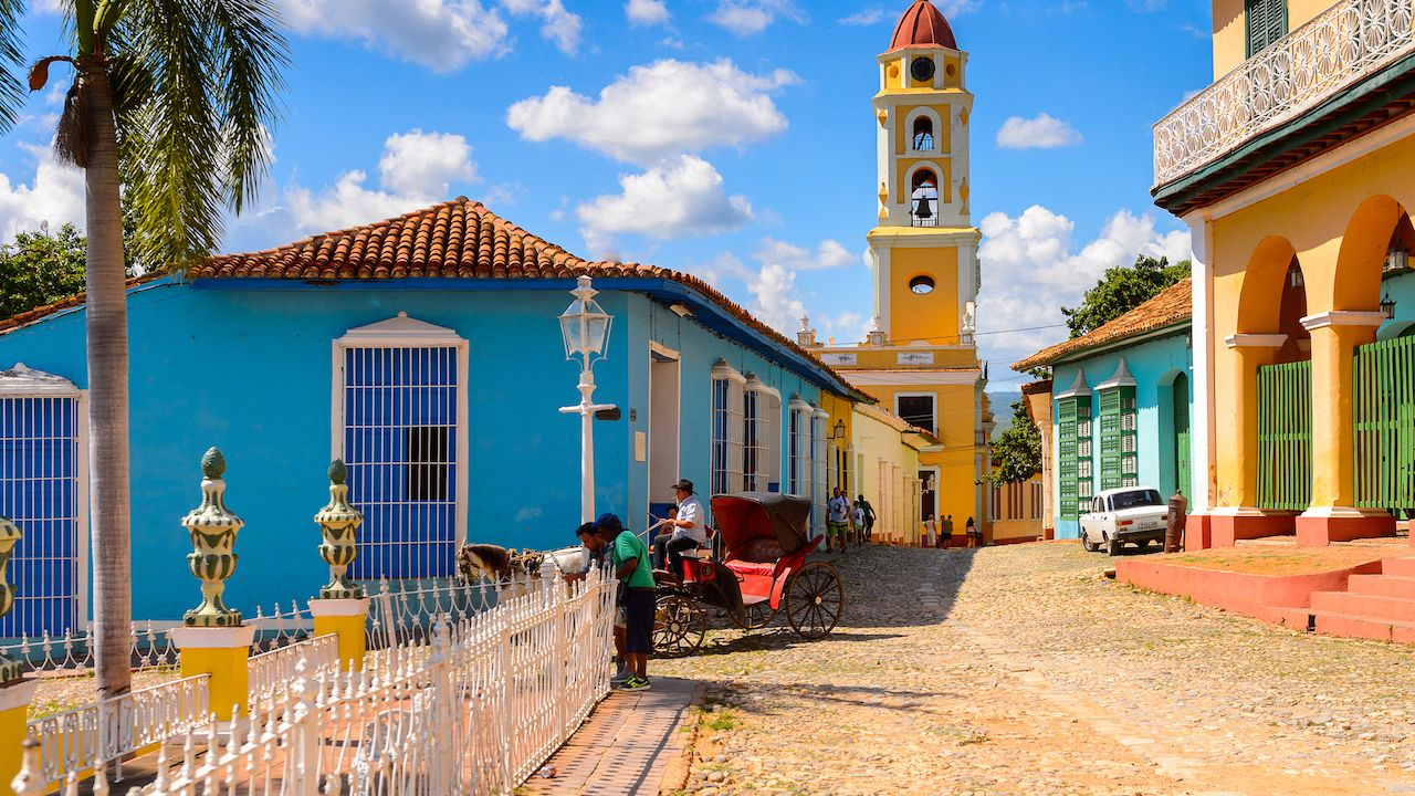 Colorful architecture of Trinidad, Cuba
