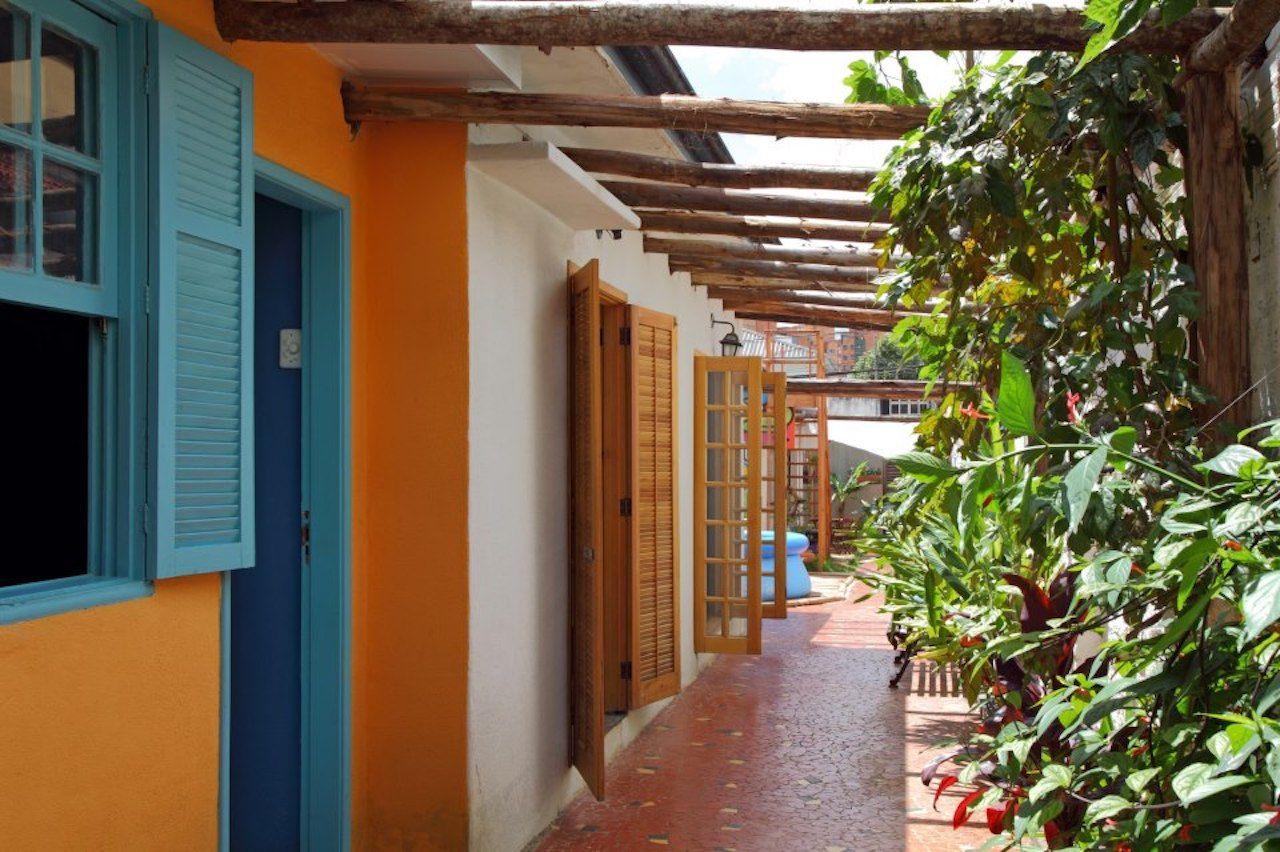 Corridor of a hostel in Sao Paulo