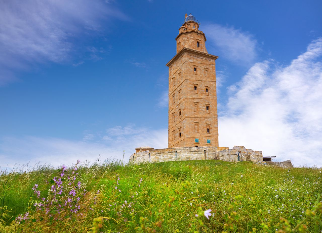 Coruna Hercules tower in Galicia Spain