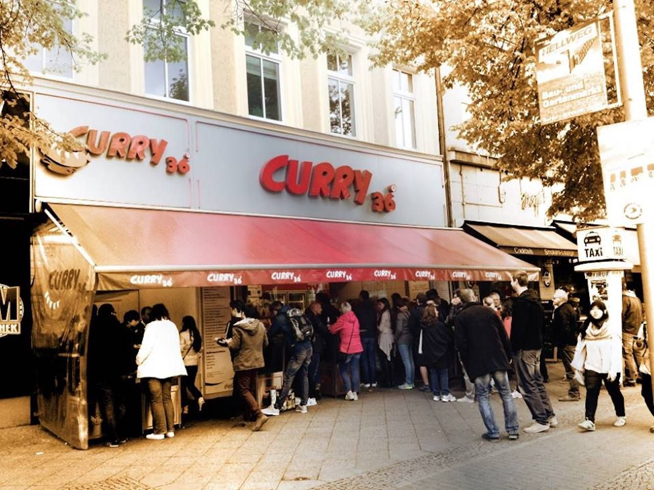 Curry 36 currywurst stand in Berlin