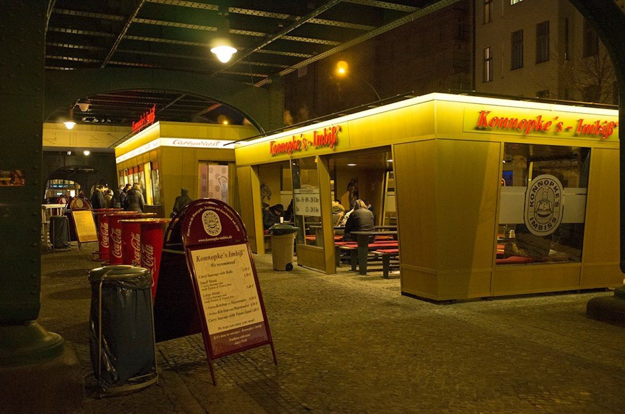 Currywurst stand in Berlin