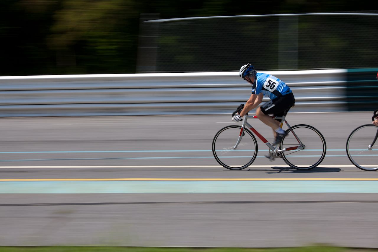 Cyclists from around the world competing in track race races in Asheville, North Carolina