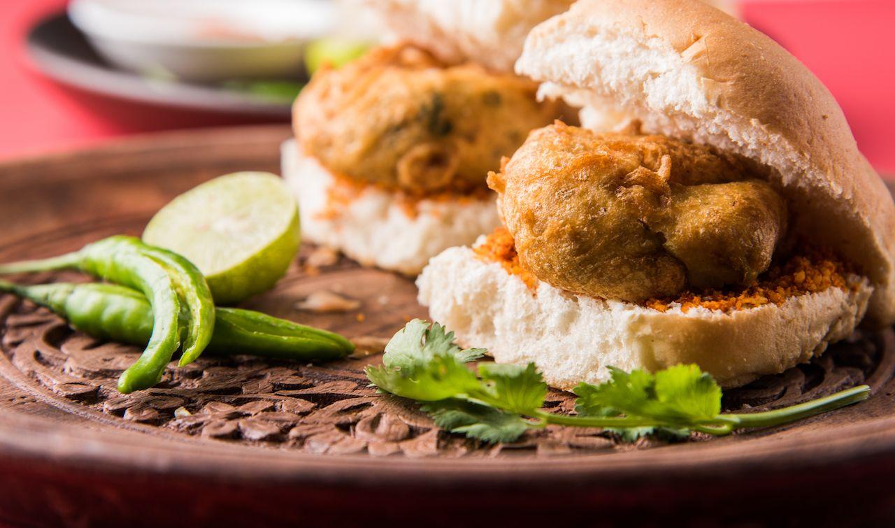 Desi Burger, a roadside fast food dish from Maharashtra, India
