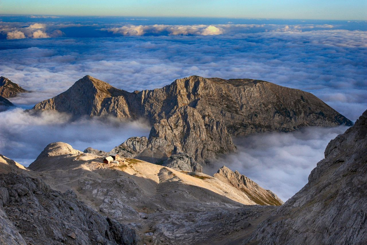 Dinaric Alps above the clouds