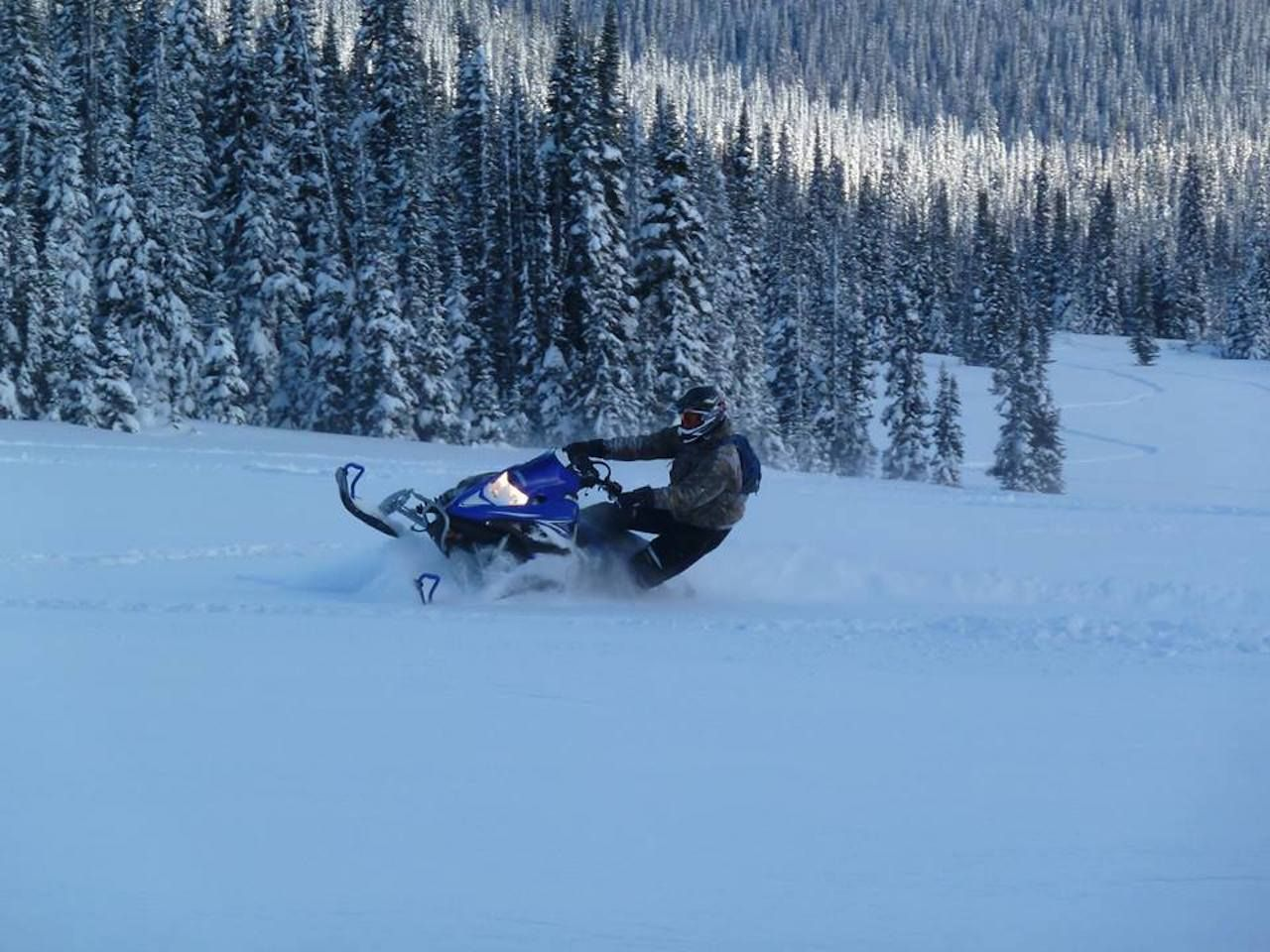 District of Wells, BC, snowmobiler
