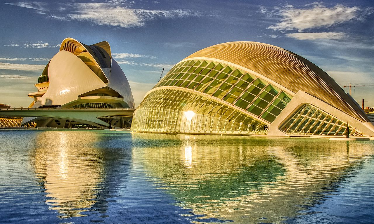 Futuristic landmark in Valencia, Spain