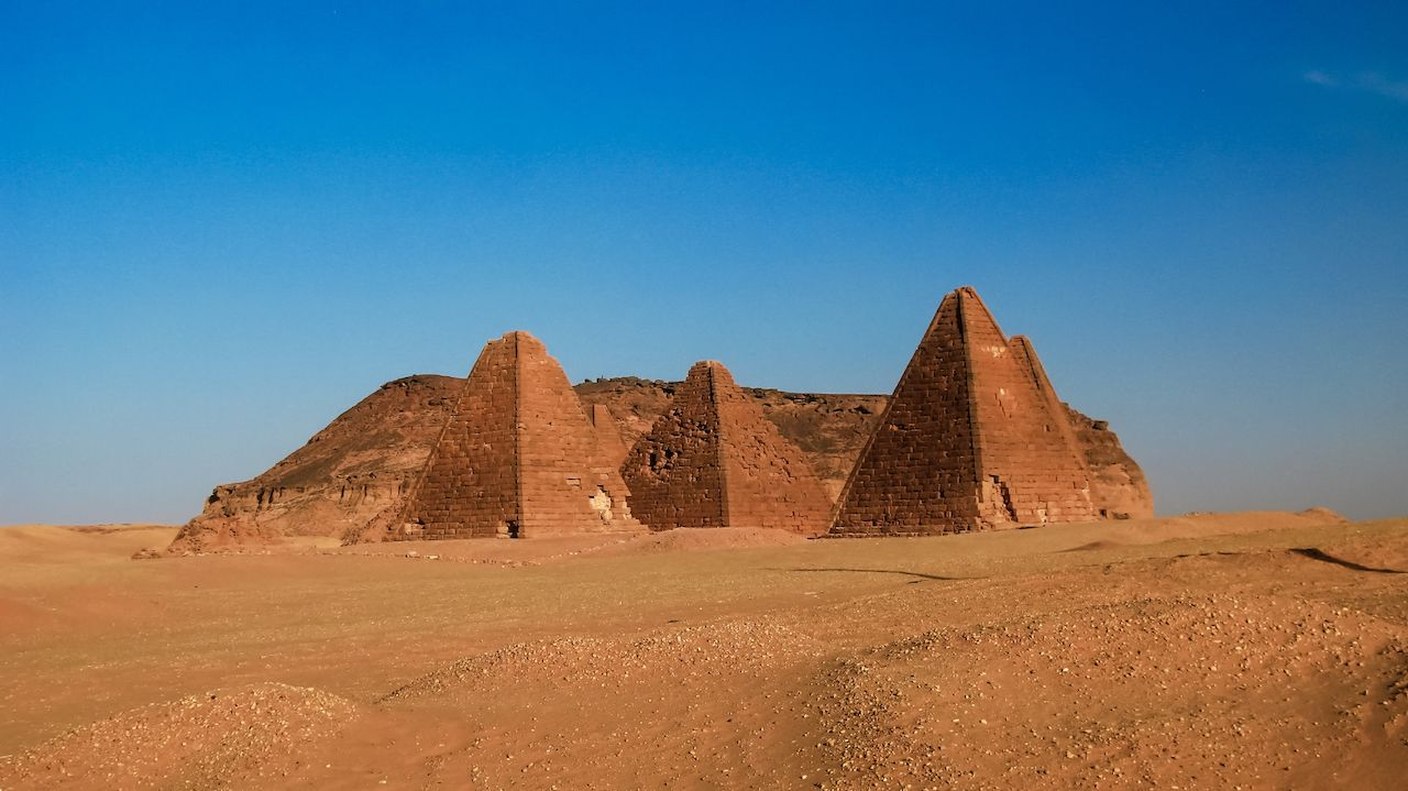 Gebel Barkal mountain and Pyramids in Sudan