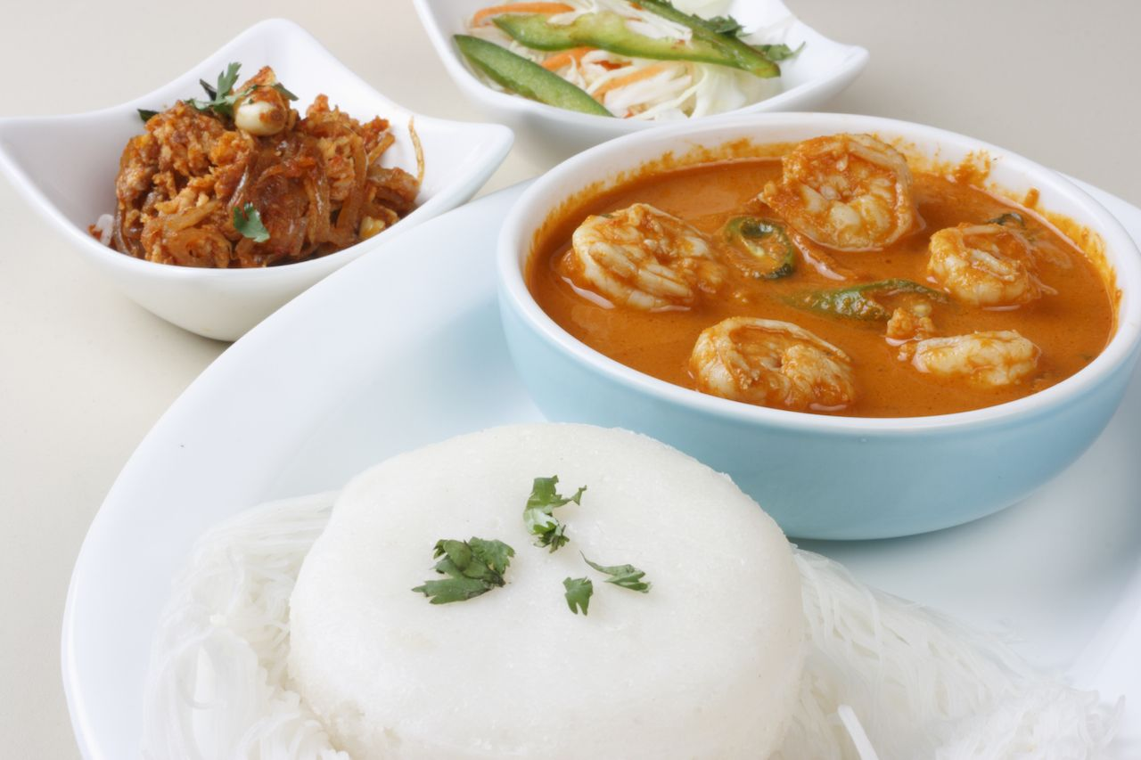 Goan prawn curry with rice