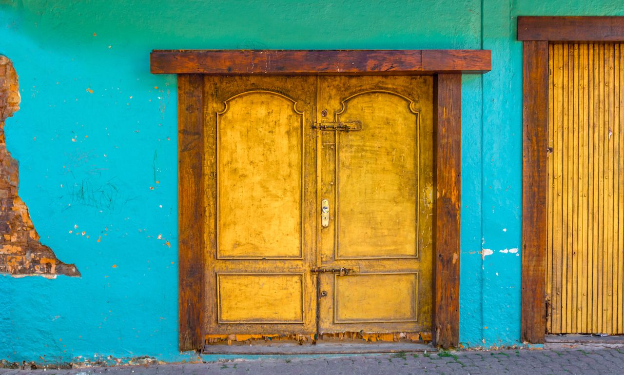Gold door in Brazil