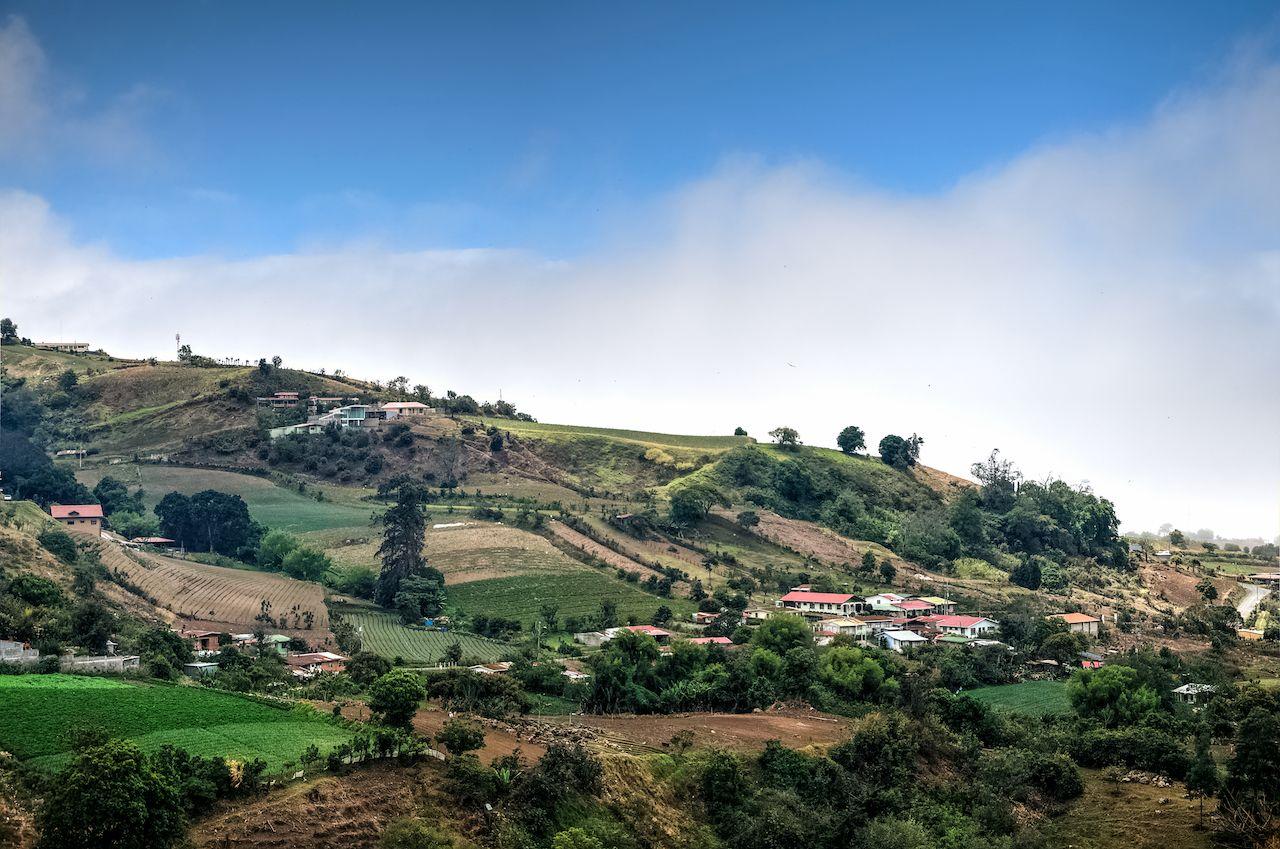 Grassy landscape around Irazu Volcano, Cartagos Province, Costa Rica