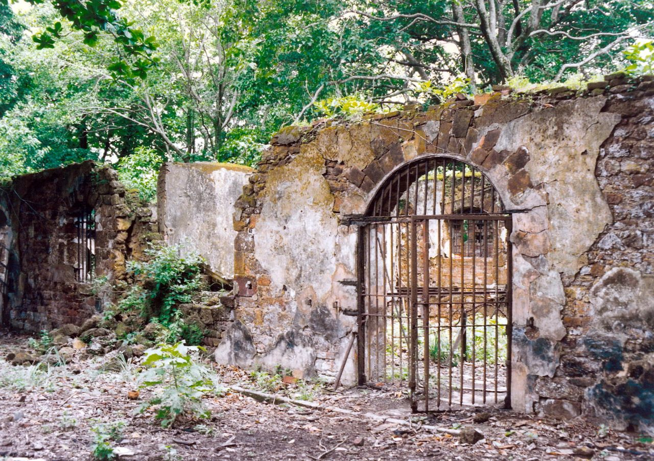 Historic Ruins prison on Devils Island, French Guiana