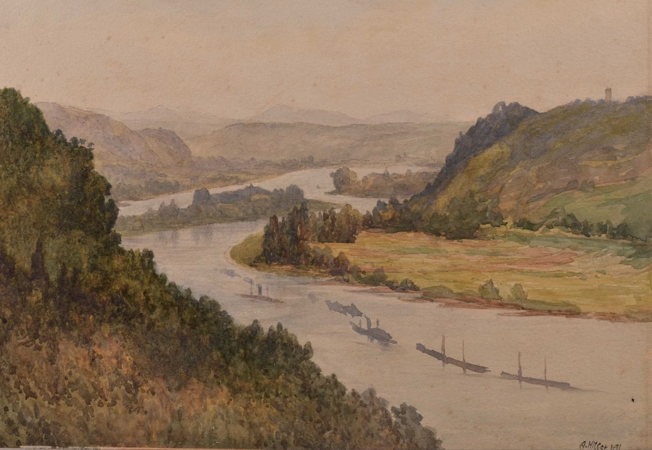Hitler painting of a river