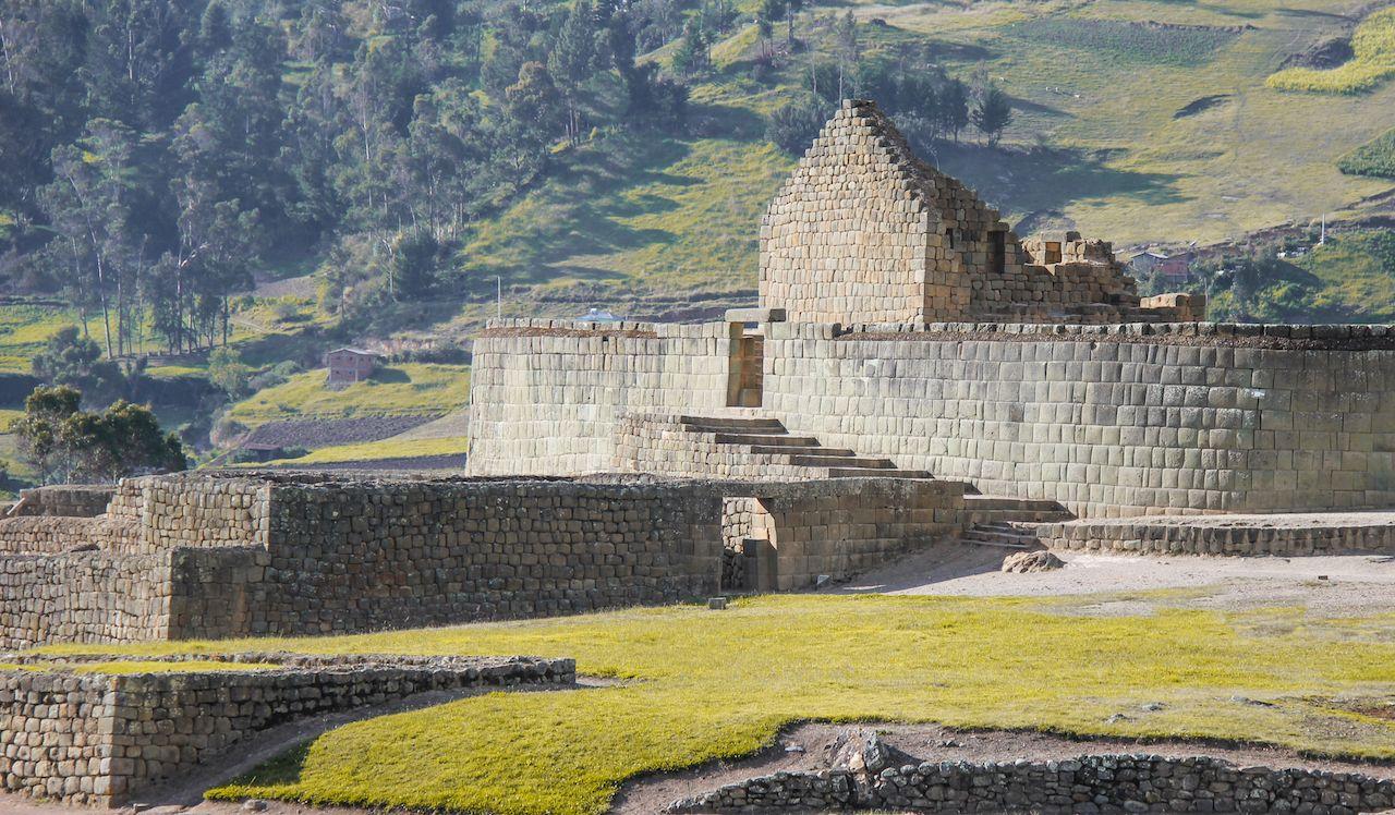 Inca ruins at Ingapirca, Andes, Ecuador
